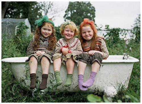 Cute little ginger girls! (Photography: Julia Bostock)