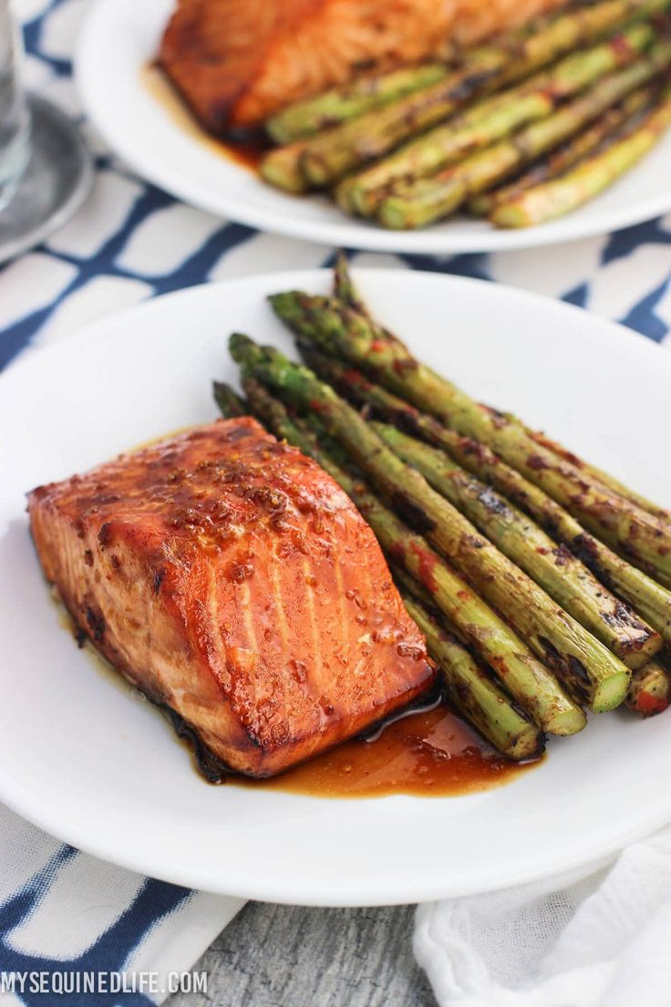 Sweet and Spicy Orange Salmon via @ohsweetbasil