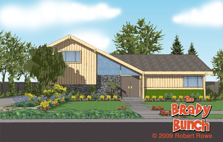 30 best brady bunch house images on pinterest the brady for Brady bunch house floor plan
