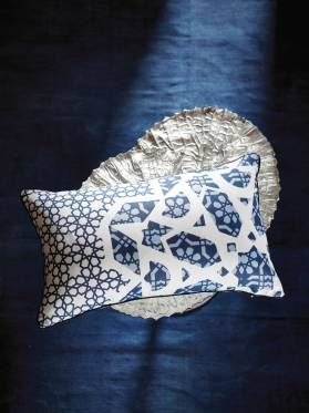 BARAKA CUSHIONS ONLINE 35 X 55CM BLUE CUSHION