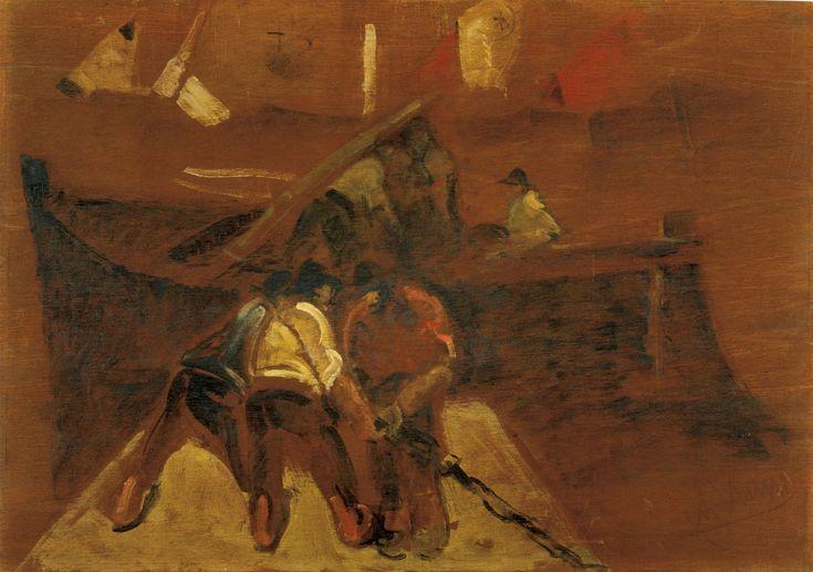 Lorenzo Viani (Italie, 1882-1936) – Gli scaricatori