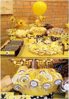 Honey Bee Birthday Desserts Table