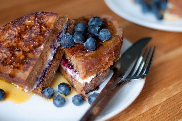 blueberry & orange ricotta french toast