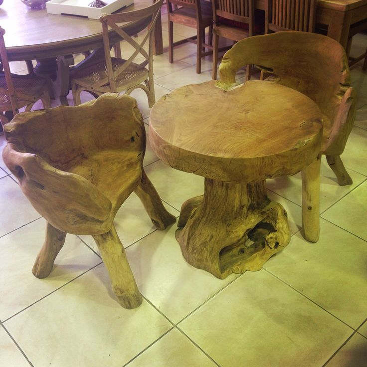 Stunning Teak Root Table And Chairs