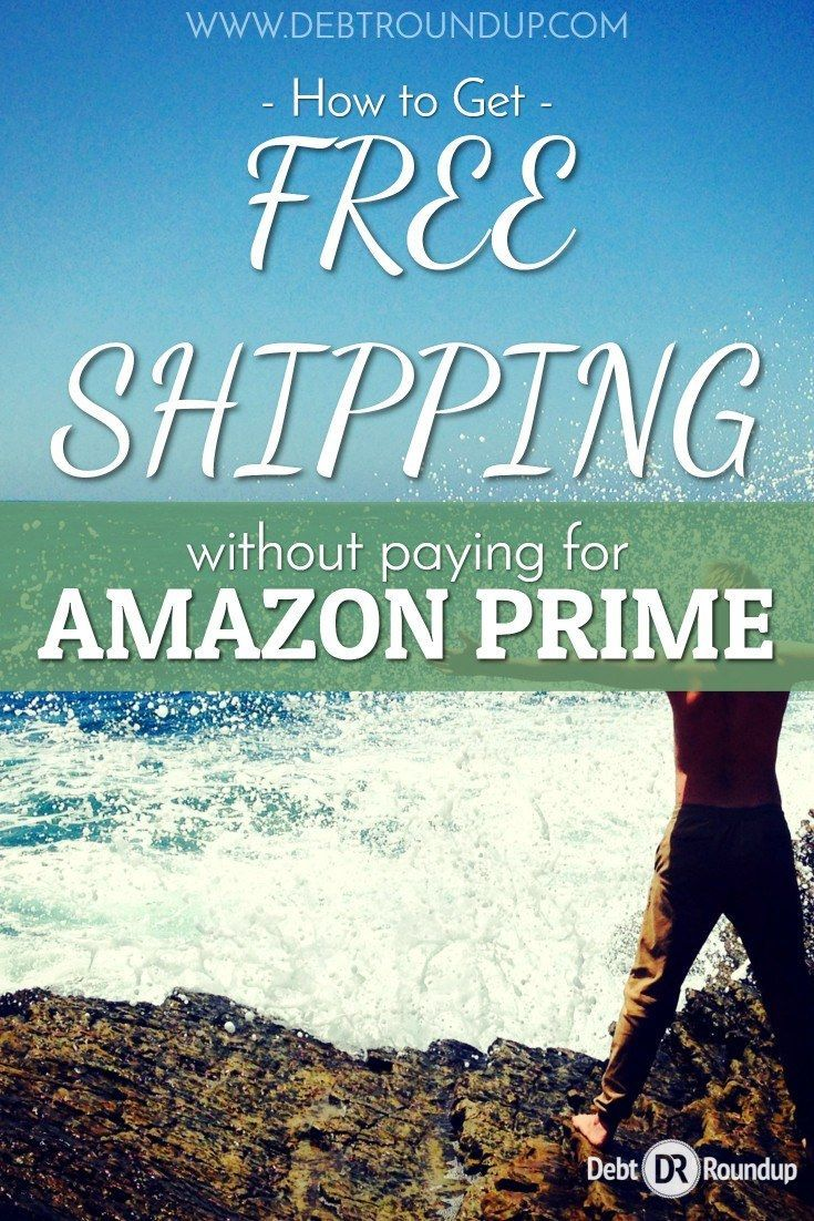 I love shopping at Amazon and I'm a Prime member, but there are a few ways to get free shipping without it. Here's how you do it! via @debtroundup