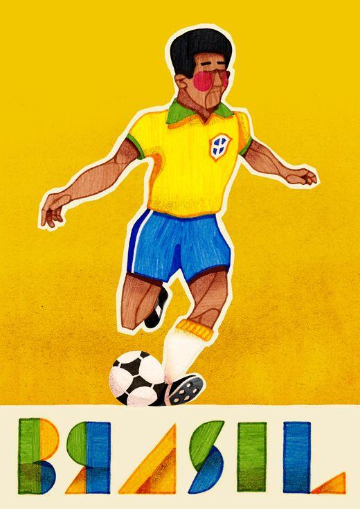 Brasil Futebol by Jorge Lawerta, via Behance