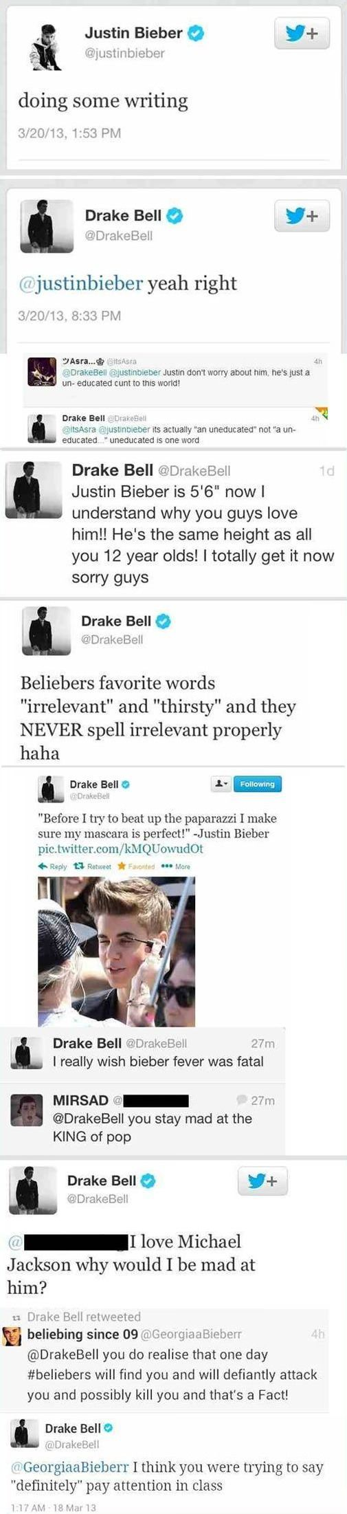 Drake Bell, saying what we all wanna say... <3