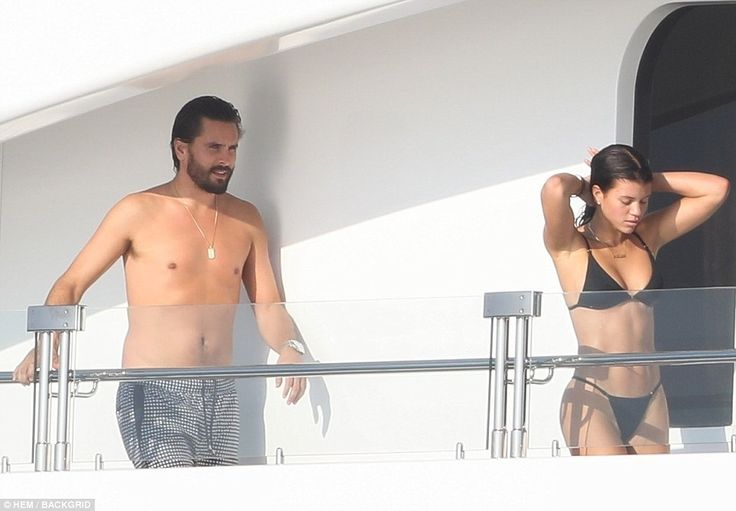 Fun in the sun: Scott Disick and girlfriend Sofia Richie enjoyed time aboard a yacht in Mexico on Monday