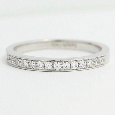 Bead Set In Channel Wedding Band White Gold
