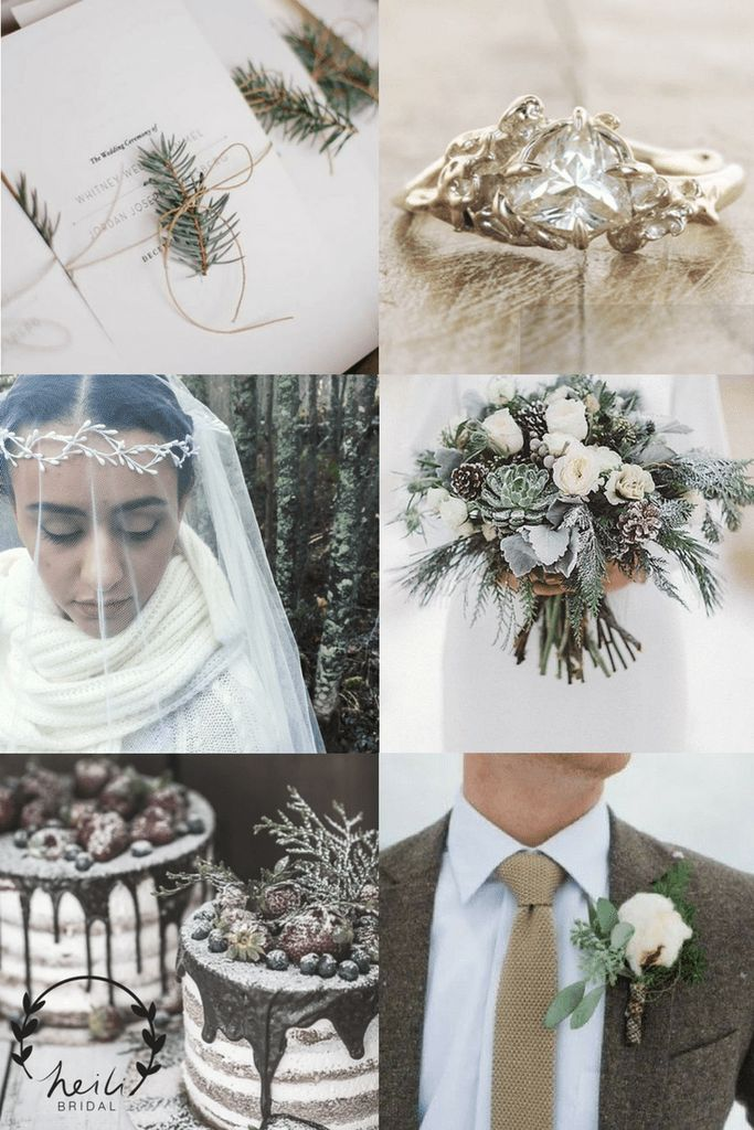 Christmas Wedding Aesthetic with Brown and Gold