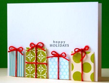Weihnachtskarte basteln, Grußkarten basteln für Weihnachten