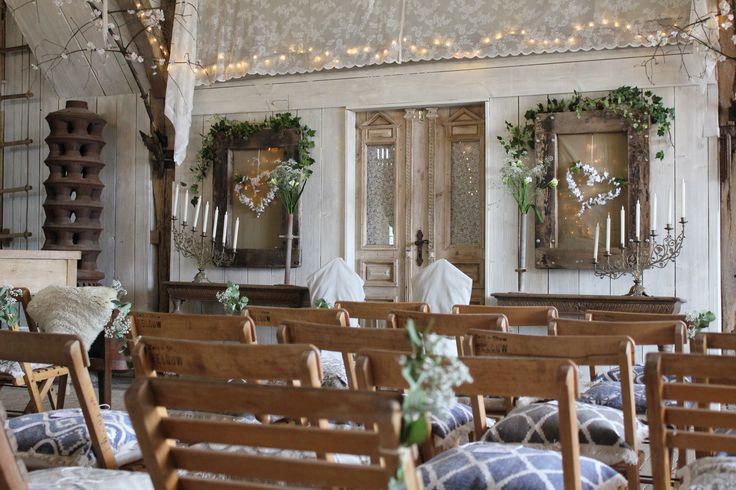 Trouwceremonie achterhuis