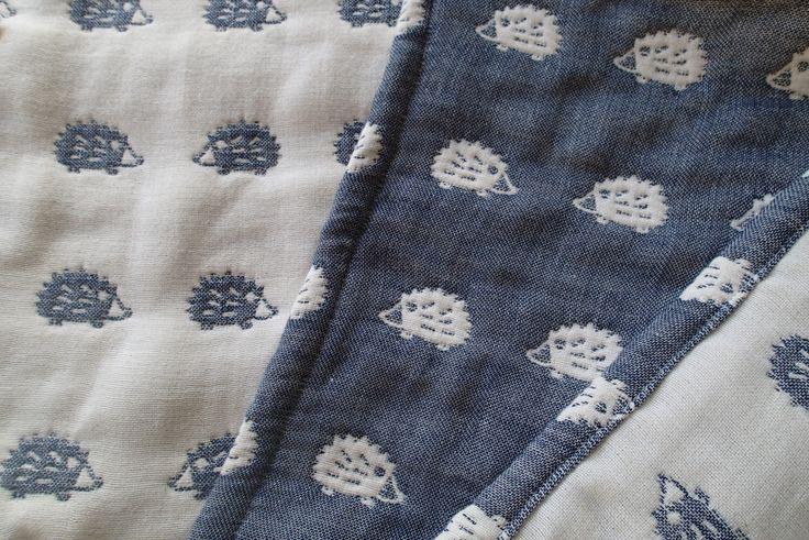 Hedgehogs blanket, navy soft blanket, baby blanket, gauze blanket, muslin blanket, stroller blanket for baby boy by MIKIbabyblanket on Etsy https://www.etsy.com/listing/218844537/hedgehogs-blanket-navy-soft-blanket-baby
