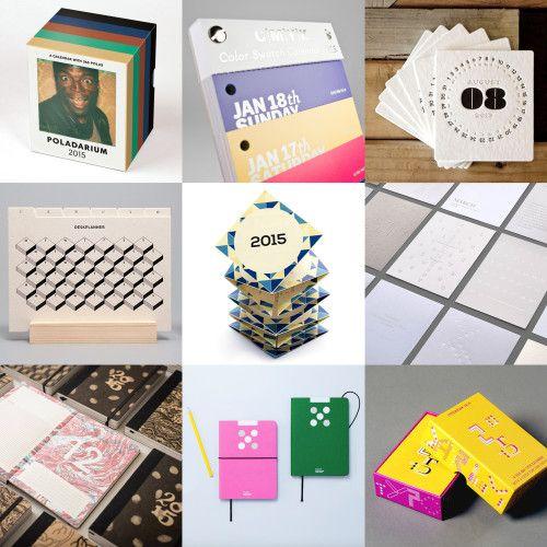 Design and Paper | 2015 Desk and Pocket Calendar Inspiration | http://www.designandpaper.com