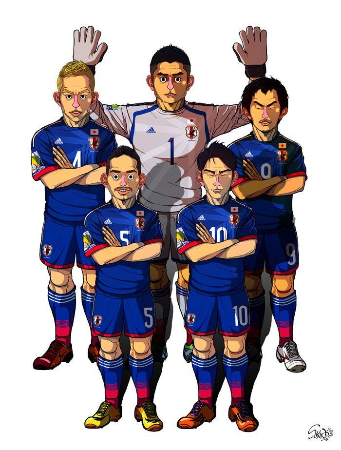 [2014 World cup Edition] C team : Japan by sakiroo.deviantart.com on @deviantART