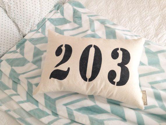 Personalized Area Code Pillow  area code pillow custom area