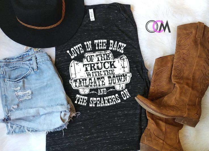 Sam Hunt Tank, Sam Hunt shirt, Love in the Back of a Truck, Sam Hunt Speakers,  Country Music Shirt, Sam Hunt Lyrics Shirt, Concert Shirt by 1OneCraftyMomma on Etsy