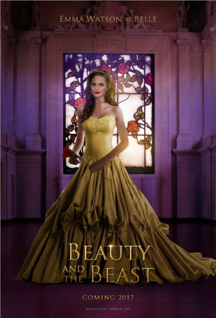 Mock Movie Poster Beauty And The Beast Starring Emma Watson As Belle