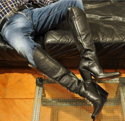 from Sawyer gay men in leather and western boots