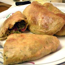 Broccoli, Pepperoni and Three Cheese Calzones Recipe on Yummly. @yummly #recipe