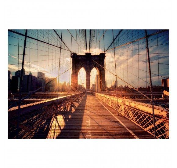 БЬЁРКСТА Картина, Бруклинский мост на закате, 78x118 см 20320703