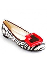 Europese en Amerikaanse populaire lage rode lippen met een enkele zebra schoenen
