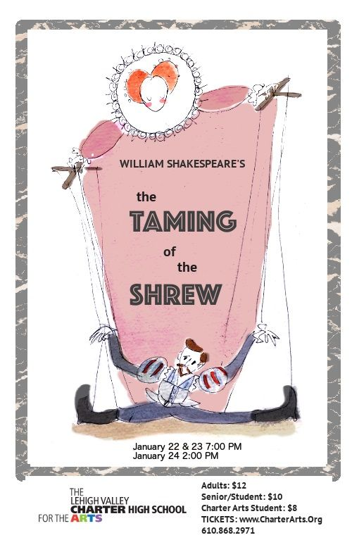 the taming of the shrew essay prompts William shakespeare's play the taming of the shrew is a lighthearted, slapstick comedy written in the 1590's this particular era is classified as the elizabethan era.
