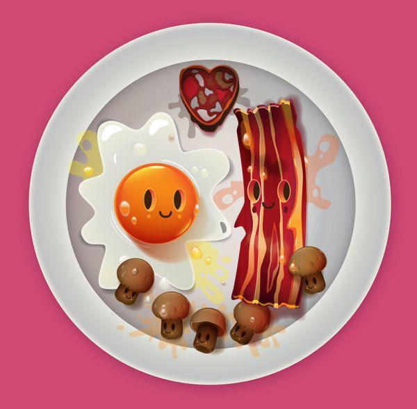 I love food! by jonathan ball / pokedstudio, via Behance