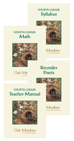 Oak Meadow Homeschool Curriculum!  LOVE it.  We have done this for 4th grade and I wouldn't do anything else from now on.  Great heart behind it.