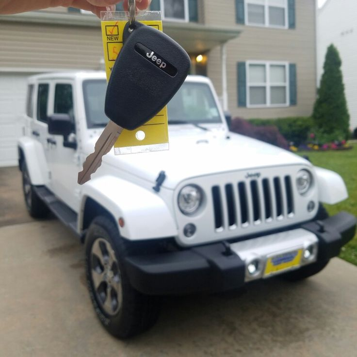 New 2017 all white Jeep Wrangler Sahara 4x4