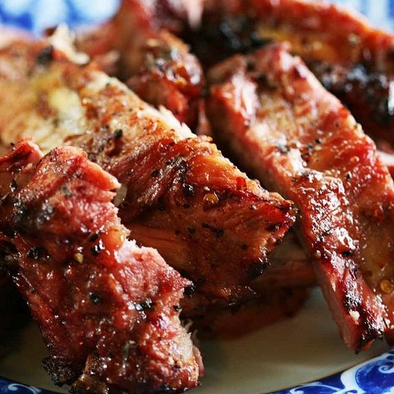 Pressure cooker spicy pork ribs. Pork ribs with spices cooked in pressure cooker.Use dry red wine as a pare for these yummy ribs.