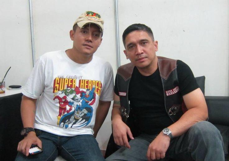 With bro Jaka Legawa, founder of Captain Jack Storing.....