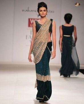 Peacock Green Sari