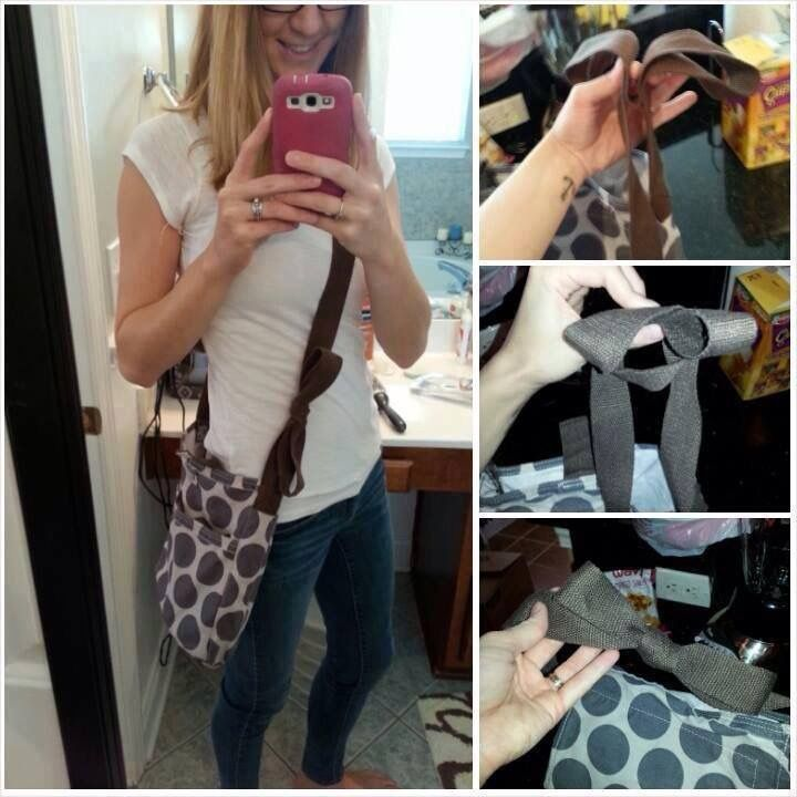 How to tie a bow into the strap of your Retro Metro Crossbody strap if you want something cute!