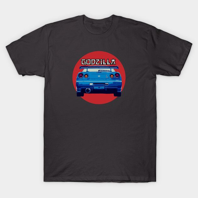 [Cars T-shirt] Nissan Skyline R34 Godzzila Japan/JDM design