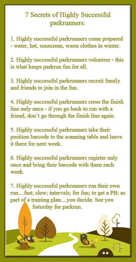 #parkrun 7 Secrets of Highly Successful parkrunners