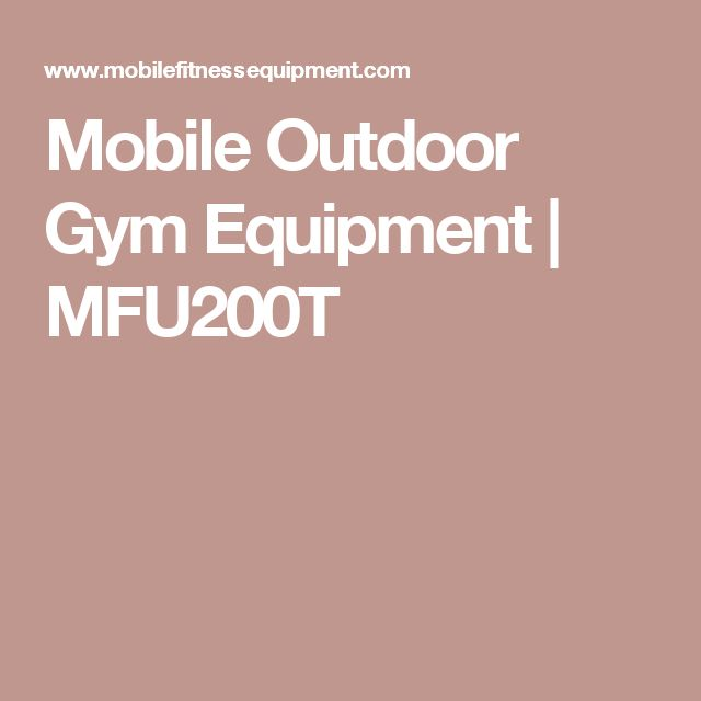 Mobile Outdoor Gym Equipment | MFU200T