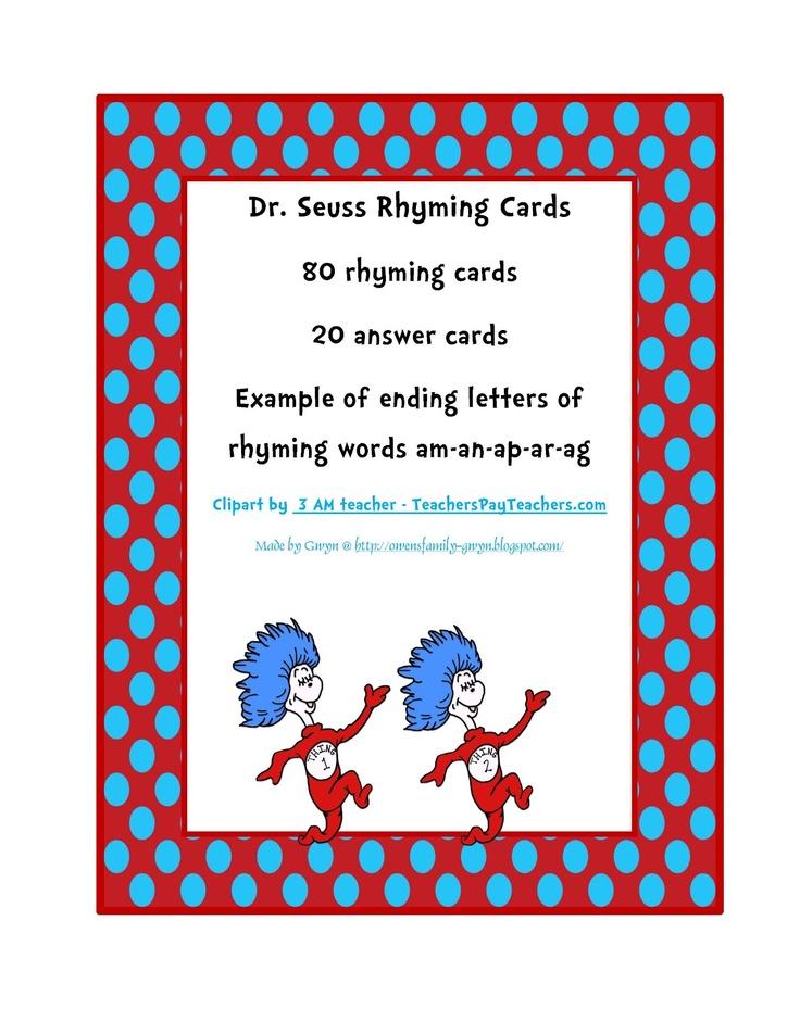 13 best Dr Seuss images on Pinterest   Dr suess, Preschool ...