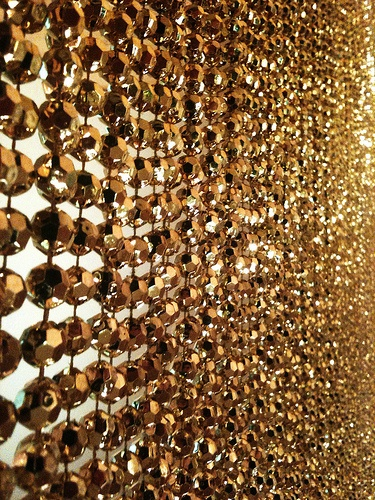 gold beaded curtains