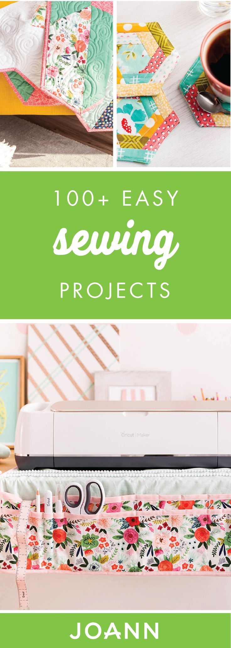 From fabric covered letters to flower pot covers, this collection of 100+ Easy Sewing Projects from JOANN has everything and more! If you're looking for a creative activity to beat the winter blues or just want to up your sewing skills, these creations are a great place to start.