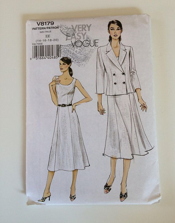 Vogue sewing pattern 8179 Misses\' petite jacket and dress Size 14 to ...