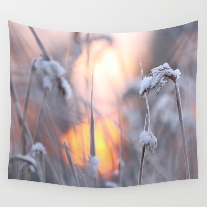 Sunny Winter Day  Wall Tapestry