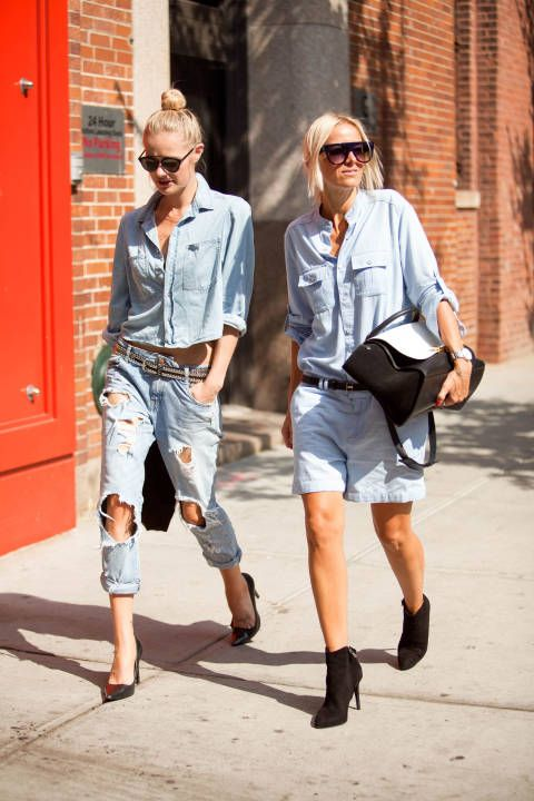 You guys, jeans are the only thing you need to be stylish, which is great news. #NYFW #streetstyle
