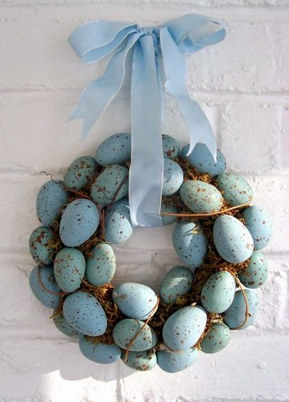 Splendid Sass.  I love the colors of the eggs.  A great spring/early summer wreath.