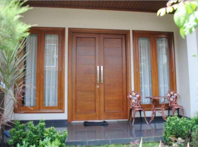 Contoh Motif Desain Model Gambar Kusen Kayu Pintu Jendela Rumah Minimalis Paling Bagus Desain Eksterior Pintu Kayu Rumah Tiang