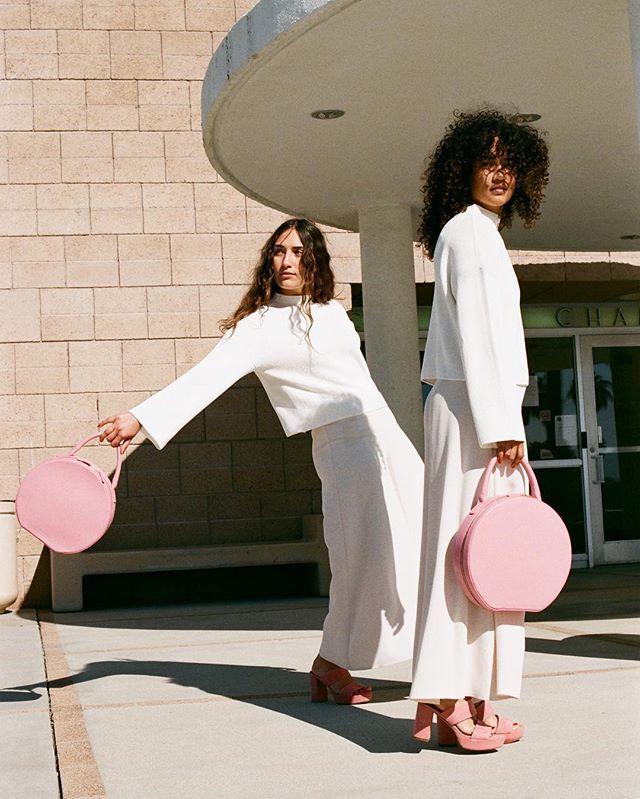 Mansur Gavriel - blush pink circular bags