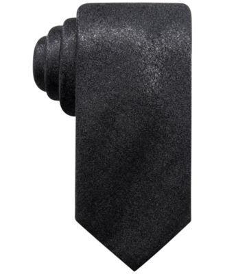 Alfani Men's Solid Slim Tie, Created for Macy's - Purple