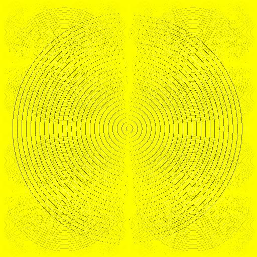Psyklon yellow trick illusion pattern
