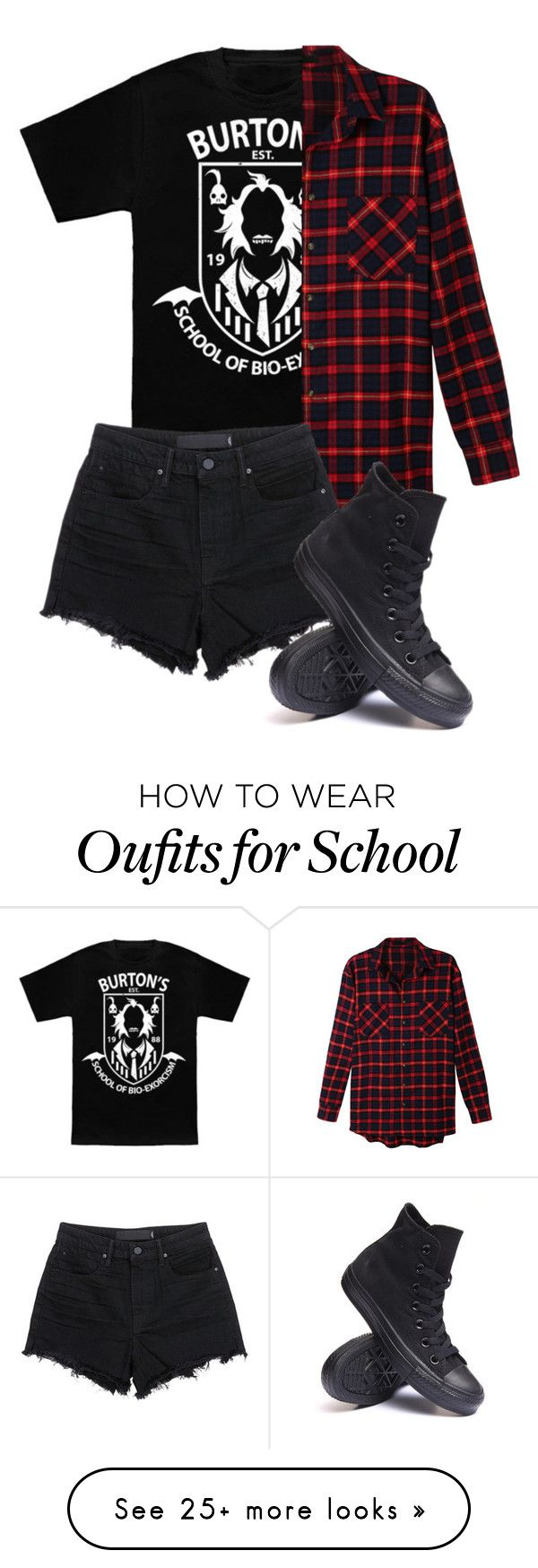 """""""Untitled #533"""" by bands-are-my-savior on Polyvore featuring Burton, LE3NO, T By Alexander Wang and Converse"""
