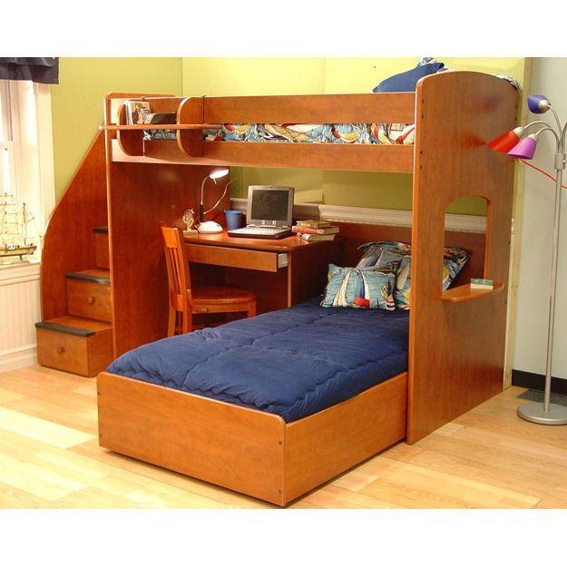 Boys&39; new bed... hopefully. Gonna nix the desk & slide ...